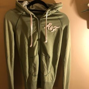 Abercrombie and Fitch zip up hooded sweatshirt